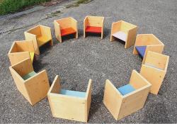 3way box chairソリッド3